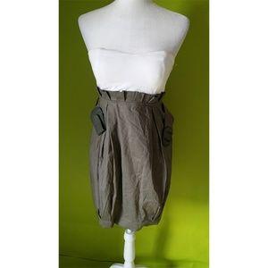 Papaya Tube Big Belt Side Zipper Dress Sz M